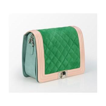Geanta casual dama Tris Company verde-bej