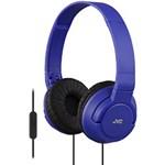 Casti JVC HA-SR185-A, tip DJ, pliabile, microfon, albastre