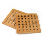 Set 2 suporturi pentru vase fierbinti KingHoff KH-1216 material bambus forma patrata kh-1216