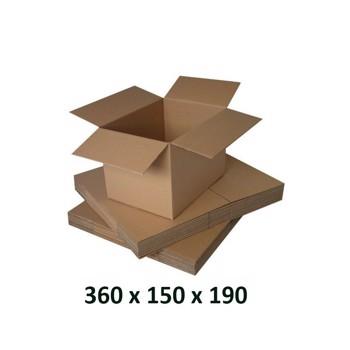 Cutie carton 360x150x190, natur, 3 starturi CO3, 435 g/mp