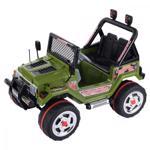Masinuta electrica 12V cu roti din cauciuc Drifter Jeep 4x4 Kaki
