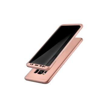 Husa Samsung Galaxy S8 Plus Flippy Full Silicone 360 Roz Auriu