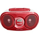 ! Micro Sistem Philips AZ215R, CD Player (Rosu)