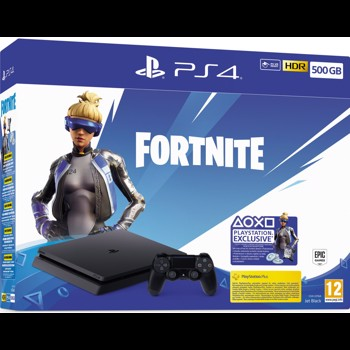 Consola Sony PS4 Slim (PlayStation 4),Fortnite Neo Versa Bundle, 500GB, Negru