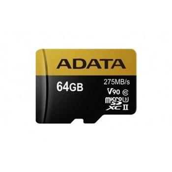 Card de memorie ADATA Premier One microSDXC 64GB Class 10 UHS-II 275MBs + Adaptor SD ausdx64guii3cl10-ca1