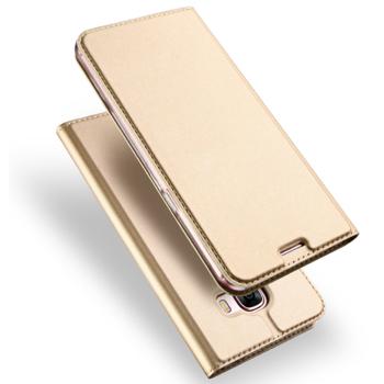 Husa carte flip wallet Dux Ducis pentru Samsung Galaxy A3 2017 auriu