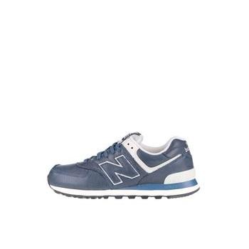Pantofi sport crem cu albastru New Balance 574 de barbati