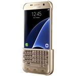Husa protectie spate cu tastatura QWERTY/QWERTZ pentru Samsung Galaxy S7 (G930), EJ-CG930UFEGDE Gold