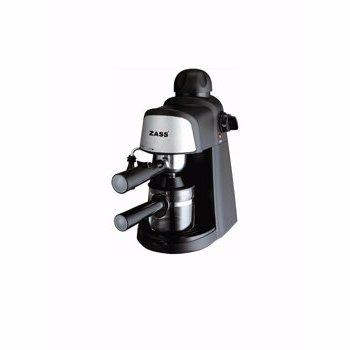 Espressor cafea Zass ZEM 10, cafea macinata + capsule, 16 bar, 1350 W, capacitate 1.8 l, recipient lapte detasabil 0.5 l, panou touch, gri + negru