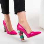 Pantofi Leliko Roz
