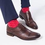 Pantofi Piele Cohen maro inchis eleganti