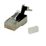 Set 10 conectori modulari MYCON STP cat 6 fir solid, CON3063