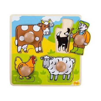 BigJigs Primul meu puzzle - 4 animale domestice