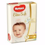 Scutece Huggies Elite Soft 4, 8-14 kg, 66 buc