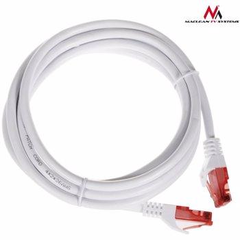 Cablu de retea , Maclean , MCTV/302W UTP cat6 plug plug , 2 m , alb