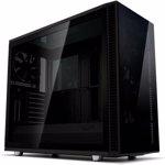 Carcasa Fractal Design Define S2 Vision Blackout Dark Tempered Glass, ATX Mid Tower, fara sursa, Negru