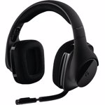 Casti Logitech G533, Wireless, DTS Surround 7.1, Negru