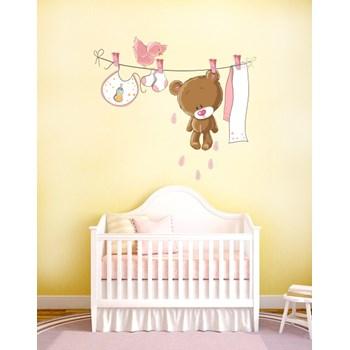 Sticker decorativ Pink Teddy