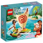 LEGO 43170 Disney Princess Moana's Ocean Adventure Playset with Pua the Pig Figure and Catamaran Sailboat