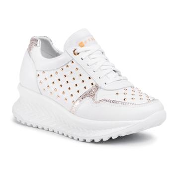 Sneakers NESSI - 20680 Biały/Złoto