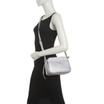 Genti Femei Co-Lab Pebble Crossbody Bag SILVER