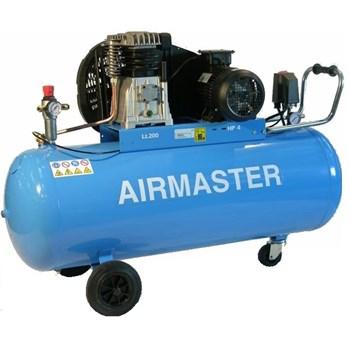 Compresor aer cu ulei AIRMASTER 4cp 200l debit aer aspirat 471l/min debit aer refulat 336l/min 9bar 108kg