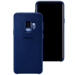 Husa protectie spate Samsung Alcantara Cover Blue pt Galaxy S9