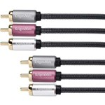 Cablu Kruger&Matz, 3 x 3 RCA tata, 1.8 m, Negru