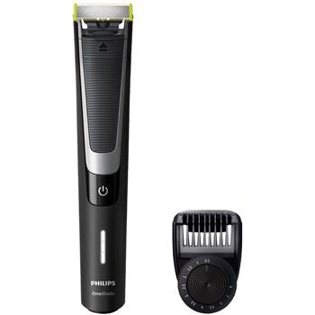 Aparat hibrid de barbierit si tuns barba Philips OneBlade QP6510/60, Wet&Dry, Litiu-ion, Fara fir, 60 min, 1 pieptene, Negru/Argintiu