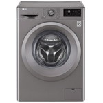 LG Masina de spalat rufe F4J5TN7S, Direct Drive, 8 kg, 1400 rpm, 60 cm, clasa A+++, argintiu
