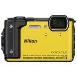 "Aparat Foto Digital Nikon COOLPIX W300, 16 MP, 1/2.3"" CMOS, 5x Zoom optic, Filmare 4K, Waterproof, Shockproof, GPS, Bluetooth, WiFi (Galben)"