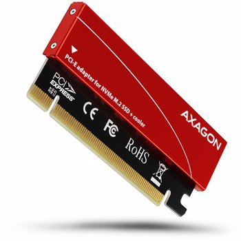 Adaptor Axagon PCIS-50 1x M.2 NVMe SSD Roșu pcem2-s