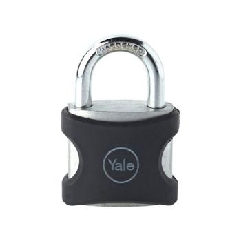 Lacat aluminiu Yale YE3/38/119/1/BK 38 mm Negru