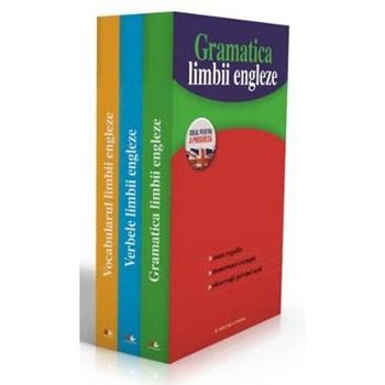 Set 3 volume Invat usor limba engleza: Gramatica limbii engleze + Verbele limbii engleze + Vocabular