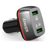 Incarcator Auto Anker 42W PowerDrive+ 2 Qualcomm Quick Charge 3.0 negru a2224h11