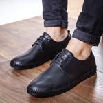 Pantofi Piele Chemali negri casual