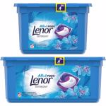Pachet Promo Detergent capsule LENOR All in One PODS Spring Awakening 28 spalari + 15 spalari