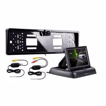 """Camera auto spate TRACER RView S1 Wireless, Night Vision, ecran TFT LCD 4.3"""", Unghi de filmare 120 grade (Negru)"""