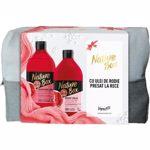 Set cadou NATURE BOX Pomegranate: Gel de dus, 385ml + Lapte de corp, 385ml