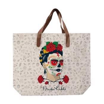Geantă din pânză Madre Selva Frida Skull, 55 x 40 cm