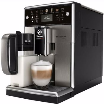 Espressor automat SAECO PicoBaristo Deluxe SM5573/10, 1.7l, Latte Perfetto, AquaClean, argintiu-negru