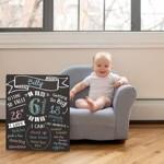 Tabla cu creta pentru primele evenimente ale bebelusului Pearhead