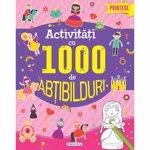 Carti pentru copii / Carte Editura Girasol, Activitati cu 1000 de abtibilduri - Printese