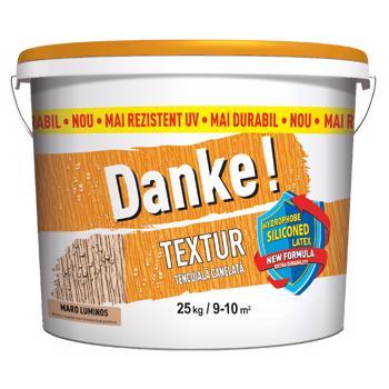 Tencuiala decorativa Danke Textur, aspect structurat, maro luminos, interior/exterior, 25 kg