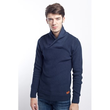 Pulover casual barbati Jack & Jones bleumarin