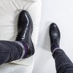 Pantofi barbati Piele Corylar negri casual