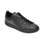 Pantofi sport ADIDAS negri, Grand Court, din piele naturala