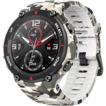 Ceas smartwatch Amazfit T-Rex, Camo Green