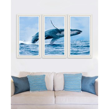 Tablou 3 piese Framed Art The Whale Triptych