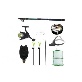 Pachet de pescuit complet cu lanseta 3,6m, mulineta, lanterna led, senzor, juvelnic si accesorii (5 voturi ) 5 stele (5 voturi) 100% Complet